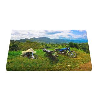 キャンバス: ドミニコ共和国の田舎 キャンバスプリント