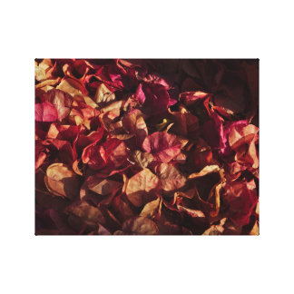 キャンバス: 秋のブーゲンビリアの花 キャンバスプリント