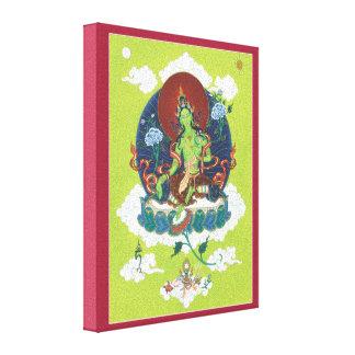 キャンバス-緑のタラ-ほとんどの重要なメスの仏 キャンバスプリント