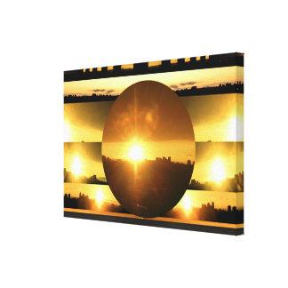 キャンバス: SunnySideのビーチ-トロントの日没 キャンバスプリント