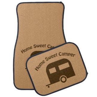 キャンピングカーの家の甘いキャンピングカーのブラウンのカーマットセット カーマット
