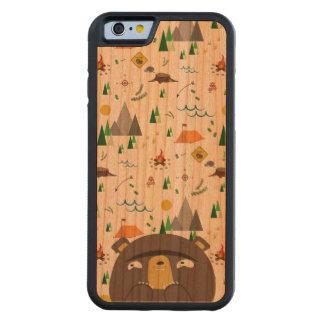 キャンプくま CarvedチェリーiPhone 6バンパーケース