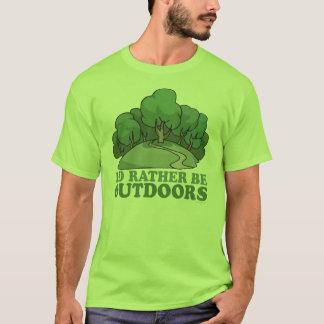 、キャンプしハイキングし、上昇のアウトドア移住します! Tシャツ