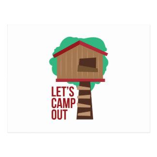 キャンプするために割り当てます ポストカード