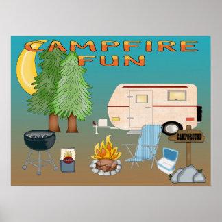 キャンプのおもしろいのポスターかプリント ポスター