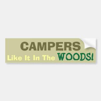 キャンプのおもしろい! バンパーステッカー
