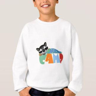 キャンプのアライグマ スウェットシャツ