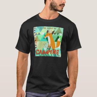 キャンプのキツネ Tシャツ