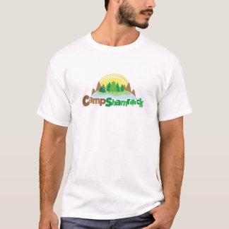 キャンプのシャムロックのロゴ Tシャツ