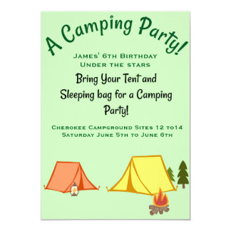 キャンプのパーティー カード