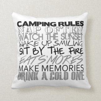 キャンプの規則の枕 クッション