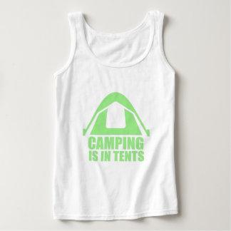 キャンプはテントにあります タンクトップ
