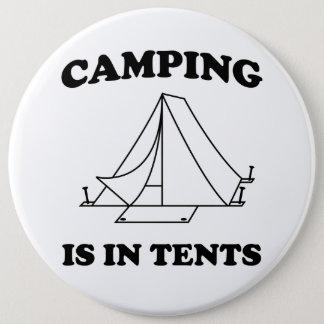 キャンプはテントにあります 缶バッジ