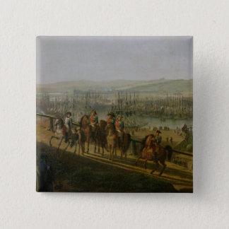 キャンプをで訪問しているNapoleon Bonaparte 5.1cm 正方形バッジ