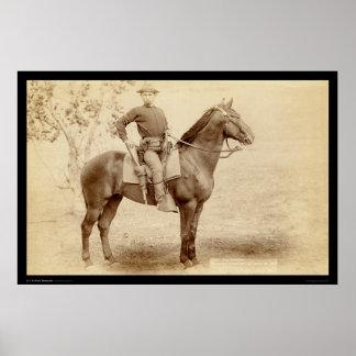 キャンプシャイエンヌSD 1890年の兵士及び馬 ポスター
