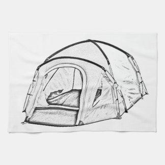 """""""キャンプテント""""のデザインの台所タオル キッチンタオル"""