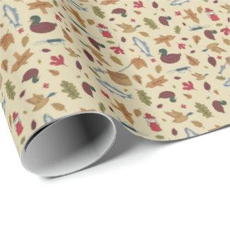 キャンプパターン包装紙 ラッピングペーパー