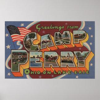 キャンプペリー、オハイオ州-エリー湖 ポスター