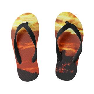 キャンベラの夏の日没 キッズビーチサンダル