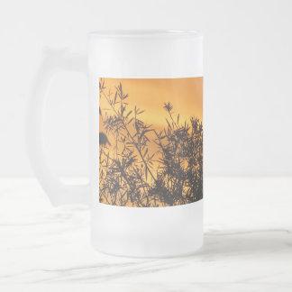 キャンベラの夏の日没 フロストグラスビールジョッキ