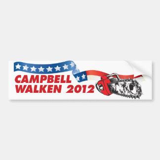 キャンベルかWalken 2012年 バンパーステッカー
