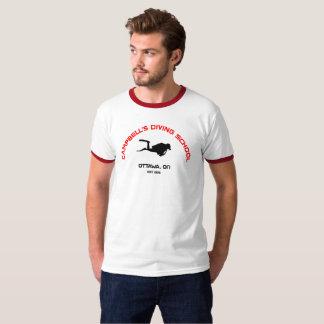 キャンベルのダイビングの学校の信号器T Tシャツ