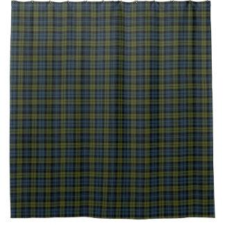 キャンベルスコットランドの伝統のタータンチェック シャワーカーテン