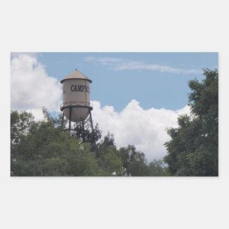 キャンベル給水塔、カリフォルニア 長方形シール