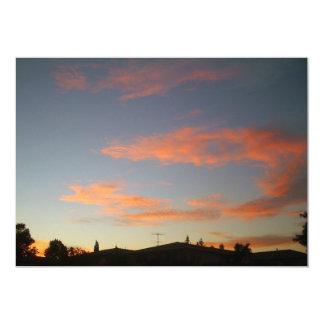 キャンベル、カリフォルニアの日没 カード
