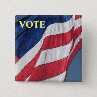 キャンペーン選挙ボタン-投票 5.1CM 正方形バッジ