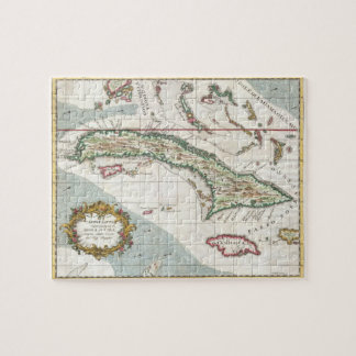 キューバおよびジャマイカ(1763年)のヴィンテージの地図 ジグソーパズル
