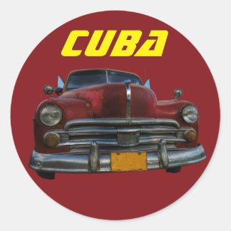 キューバのクラシックなアメリカ車 ラウンドシール