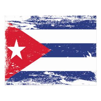 キューバのグランジな旗 ポストカード