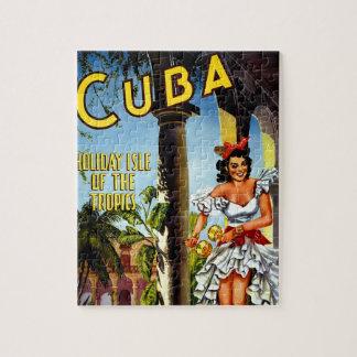 キューバのダンサーのヴィンテージ旅行 ジグソーパズル
