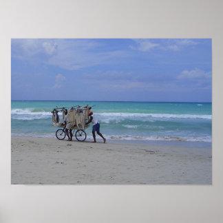 キューバのビーチ場面 ポスター