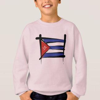 キューバのブラシの旗 スウェットシャツ