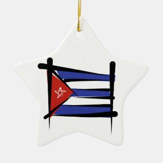 キューバのブラシの旗 セラミックオーナメント