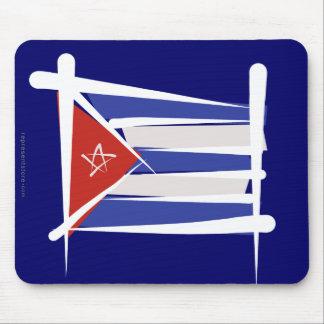 キューバのブラシの旗 マウスパッド