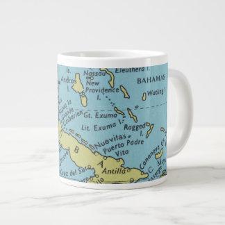 キューバのマグのヴィンテージの地図 ジャンボコーヒーマグカップ