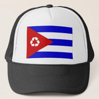 キューバのリサイクルの旗の帽子 キャップ