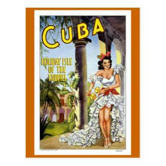 キューバのヴィンテージ旅行 ポストカード