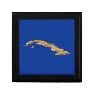 キューバの地図のギフト用の箱 ギフトボックス