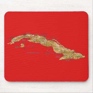 キューバの地図のマウスパッド マウスパッド