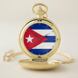 キューバの愛国心が強い壊中時計の旗 ポケットウォッチ