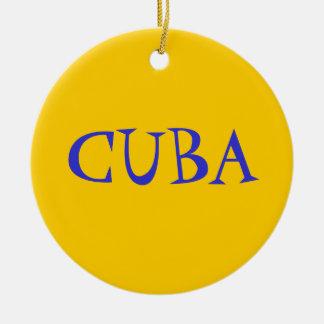キューバの感情 セラミックオーナメント