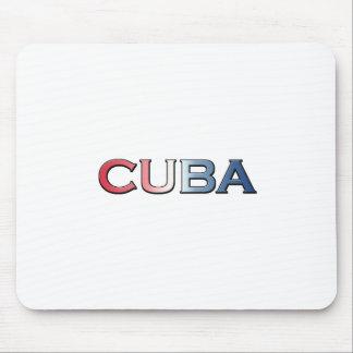 キューバの文字のロゴ マウスパッド