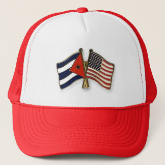 キューバの旗および米国旗 キャップ