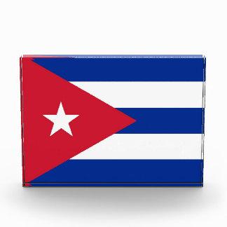 キューバの旗が付いている賞 表彰盾