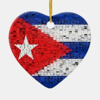 キューバの旗のグリッターのオーナメント セラミックオーナメント
