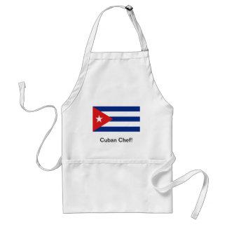 キューバの旗のシェフのエプロン スタンダードエプロン